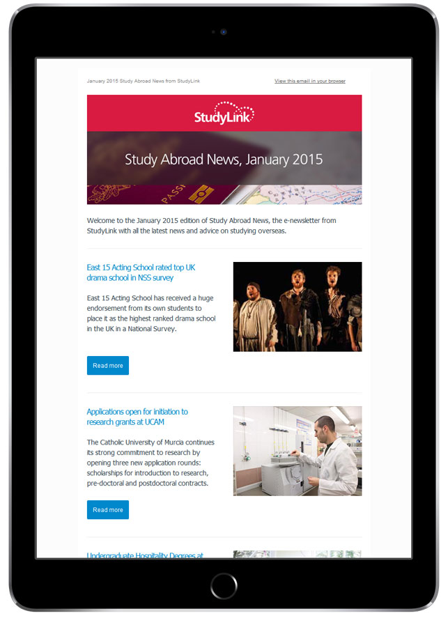 StudyLink.com Email Newsletters