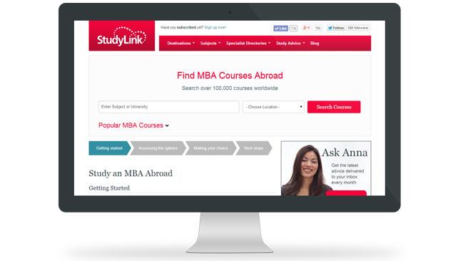 StudyLink.com MBA Directory