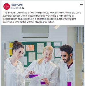 StudyLink Social Promotion Campaigns